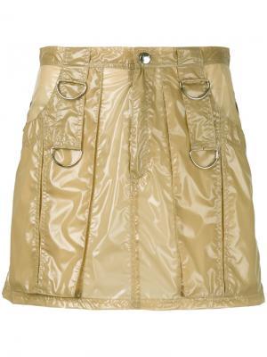 Мини юбка с петлями Misbhv. Цвет: телесный
