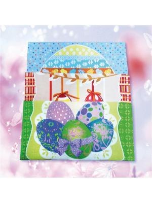 Комплект полотенец Пасхальная открытка ZLATA KORUNKA. Цвет: голубой