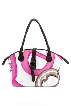 Сумка Aigner. Цвет: pink, white and brown