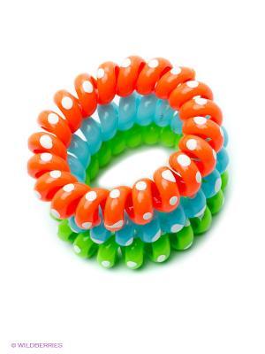 Резинка-браслет для волос Mitya Veselkov. Цвет: голубой, оранжевый, зеленый