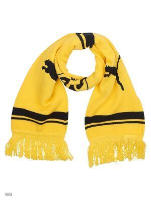 Шарф BVB Fan Scarf PUMA. Цвет: желтый, черный