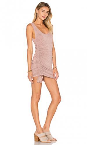 Мини платье koby Riller & Fount. Цвет: сиреневый