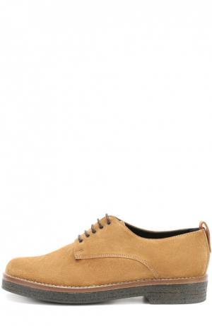 Замшевые ботинки на наборной подошве Baldan. Цвет: коричневый