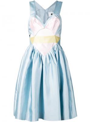 Расклешенное платье с вырезными деталями Minjukim. Цвет: чёрный