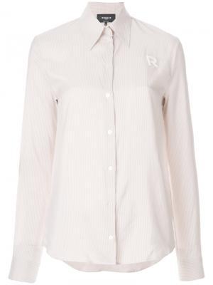 Классическая приталенная блузка Rochas. Цвет: розовый и фиолетовый
