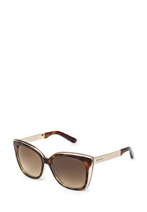 Очки солнцезащитные Jimmy Choo. Цвет: коричневый