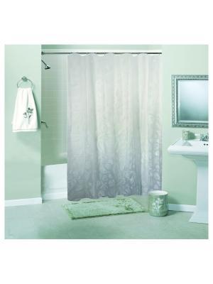 Штора для ванной комнаты 180х180см, Ракушки белая, PEVA NIKLEN. Цвет: светло-серый