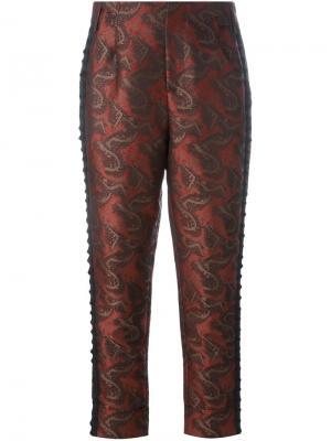 Жаккардовые брюки A.F.Vandevorst. Цвет: красный