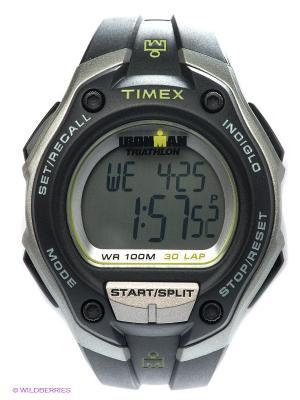 Часы TIMEX. Цвет: черный, серебристый