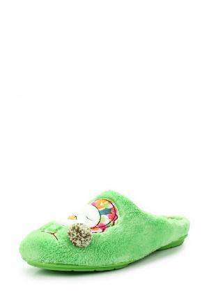 Тапочки Costa. Цвет: зеленый