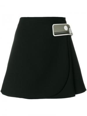 Мини-юбка А-силуэта Prada. Цвет: чёрный