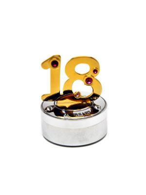 Шкатулка для кольца CRYSTOCRAFT. Цвет: золотистый