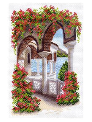 Рисунок на канве Уголок Греции Матренин Посад. Цвет: белый