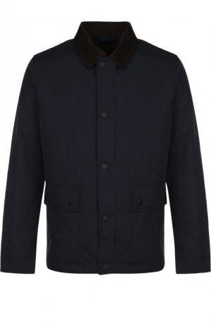 Стеганая куртка на молнии с отложным воротником Bogner. Цвет: темно-синий