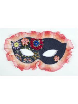 Набор для шитья и вышивания карнавальная маска Фламинго Матренин Посад. Цвет: голубой, розовый