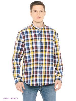 Рубашка John Jeniford. Цвет: желтый