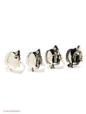 3057-MR (48) Набор колец для салфеток 4 шт. Marquis. Цвет: серебристый