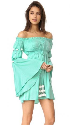 Платье Anita SUNDRESS. Цвет: аква/белый