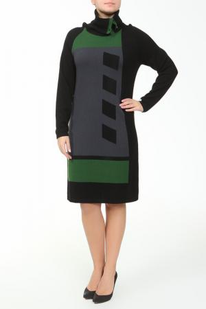 Платье Paola Joy. Цвет: черный, зеленый