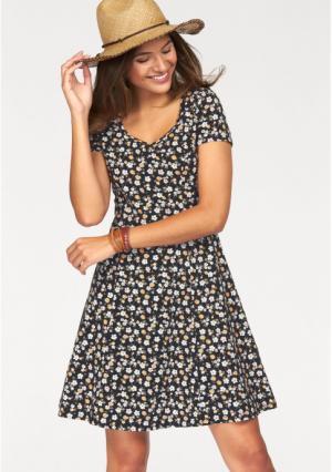 Платье AJC. Цвет: черный/белый/розовый