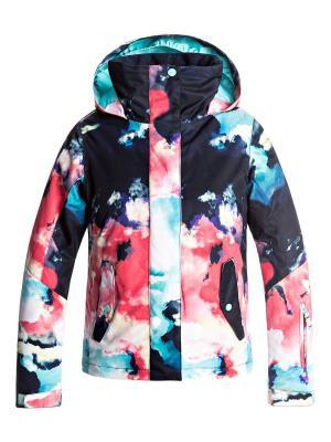 Куртка сноубордическая ROXY. Цвет: темно-синий, лазурный, розовый