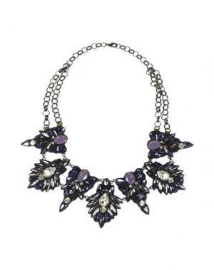 Ожерелье DEEPA GURNANI. Цвет: фиолетовый