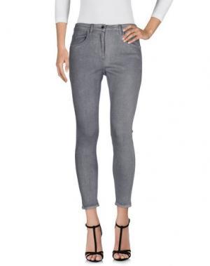 Джинсовые брюки MANGANO. Цвет: серый