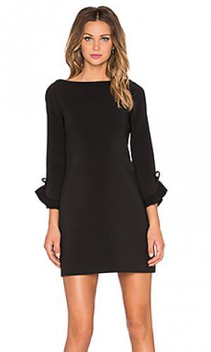 Платье с рюшами на рукавах kate spade new york. Цвет: черный