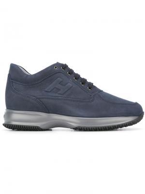 Кроссовки на шнуровке Hogan. Цвет: синий