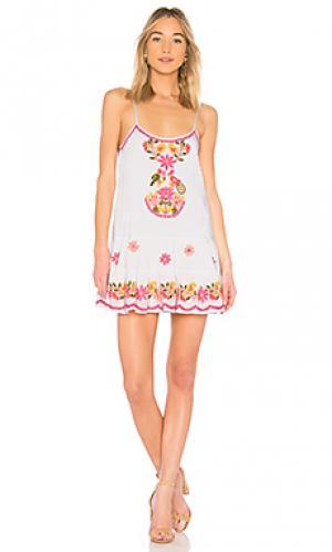 Мини платье juliet dunn. Цвет: белый