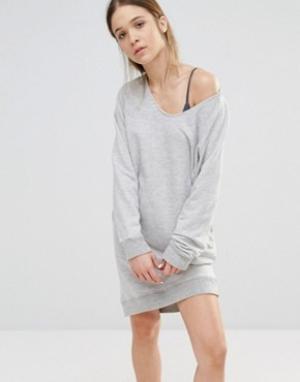 SUNDRY Трикотажное платье. Цвет: серый