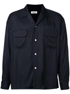 Рубашка с нагрудными карманами monkey time. Цвет: чёрный
