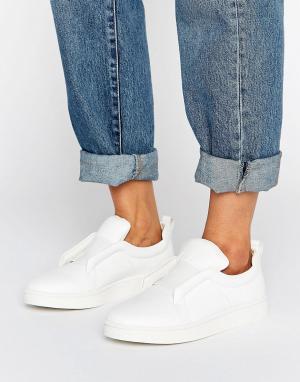 Sol Sana Белые кожаные кроссовки-слипоны Mickey. Цвет: белый