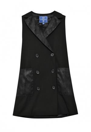 Платье Смена. Цвет: черный