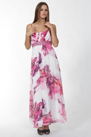 Длинное платье на тонких бретелях Mona Kalin. Цвет: розовый