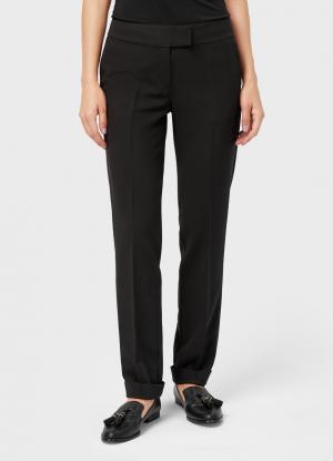 Прямые брюки OSTIN. Цвет: черный