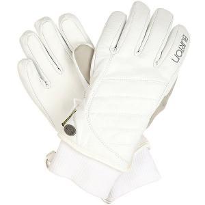 Перчатки сноубордические женские  Wb Favorite Leather Gl Stout White Burton. Цвет: белый