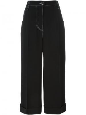 Wide-legged cropped trousers Marco De Vincenzo. Цвет: чёрный