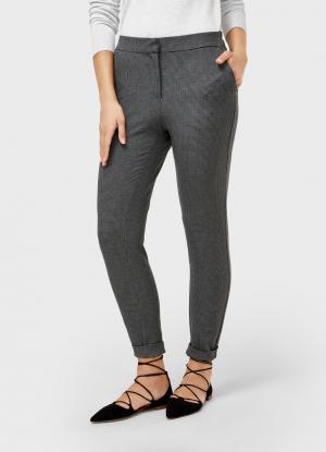Зауженные брюки OSTIN. Цвет: cеро-бежевый