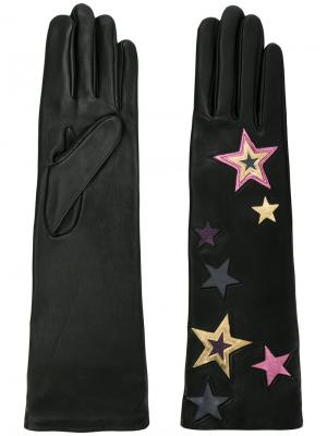 Длинные перчатки со звездами Agnelle. Цвет: чёрный
