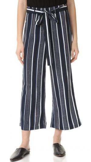 Расклешенные укороченные брюки Henderson cupcakes and cashmere. Цвет: чернильный