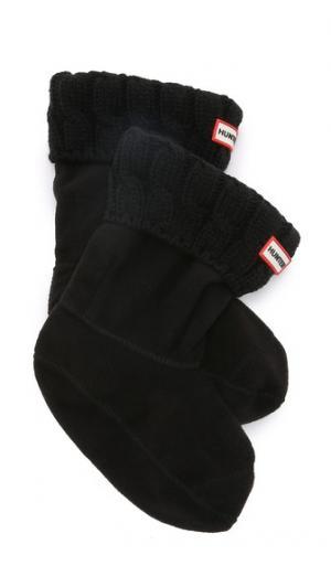 Носки с отделкой в виде косичек под короткие ботинки Hunter Boots. Цвет: голубой
