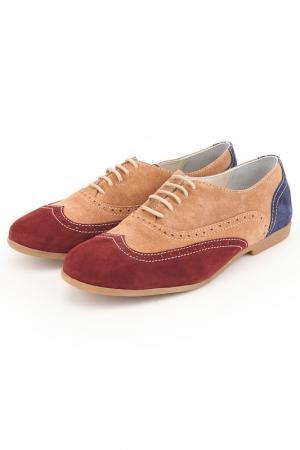 Туфли Etor. Цвет: красный, светло-коричневый