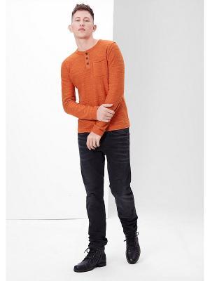 Лонгслив S.OLIVER. Цвет: оранжевый