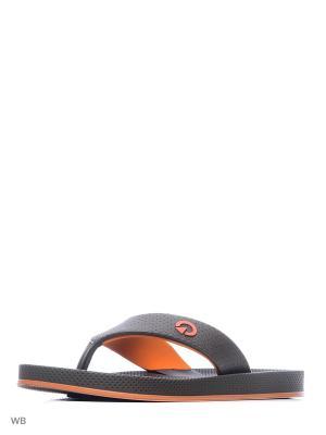 Шлепанцы CARTAGO. Цвет: коричневый, оранжевый