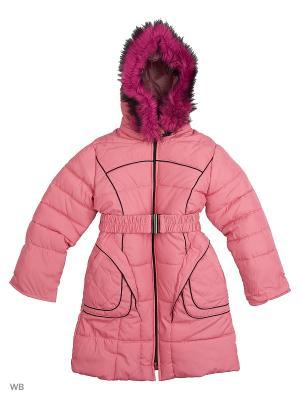 Пальто утепленное для девочки Кантик Пралеска. Цвет: персиковый
