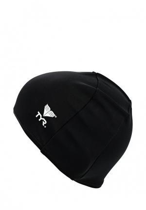 Шапочка для плавания TYR. Цвет: черный