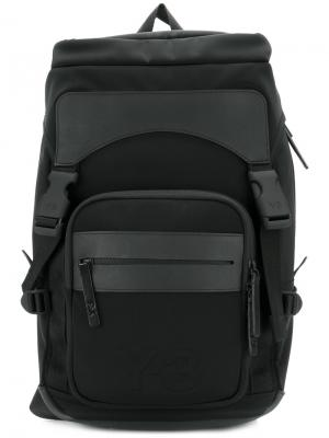 Large padded backpack Y-3. Цвет: чёрный