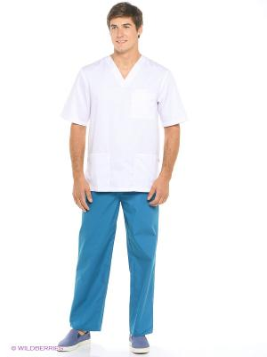 Брюки медицинские Med Fashion Lab. Цвет: лазурный