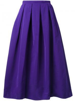 Плиссированная пышная юбка Rochas. Цвет: розовый и фиолетовый